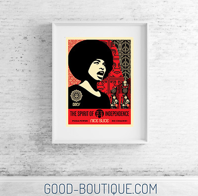 Shepard Fairey・Spirit Of Independence・IN HAND・S/N/400・Obey Giant・ Signed・Holiday