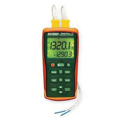 EXTECH EA15 Thermocouple Thermometer, 2 Input