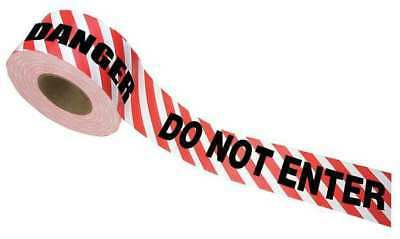 Barricade Tape,Danger Do Not Enter,Red ZORO SELECT 15151