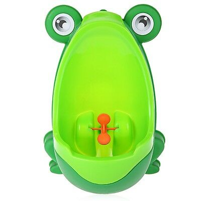 UK Children Frog Potty Toilet Training Kids Urinal Baby Boys Pee Trainer Green