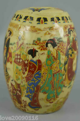 Collectible Handwork Decoration Porcelain Paint Noblewoman Auspicious Spice Pots