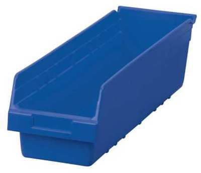 "Blue Shelf Bin, 23-5/8""L x 6-5/8""W x 6""H AKRO-MILS 30094BLUE"