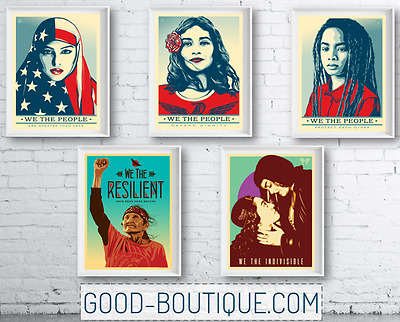 Shepard Fairey・We The People・5x Set・OFFICIAL・Greater Than Fear・24x36 Not Signed