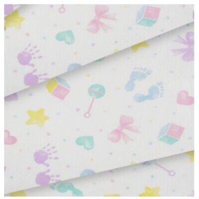 Baby Hand & Foot Prints  Patterned ~ Acid Free Tissue Paper Sheets 35x45cm