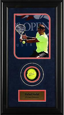 Rafael Nadal Autographed Tennis Ball US Open Shadowbox