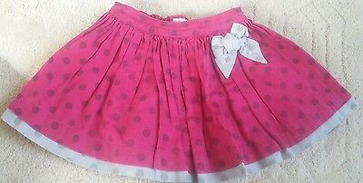 Mamas & Papas baby girls polka for layered skirt 18-23months pink and grey