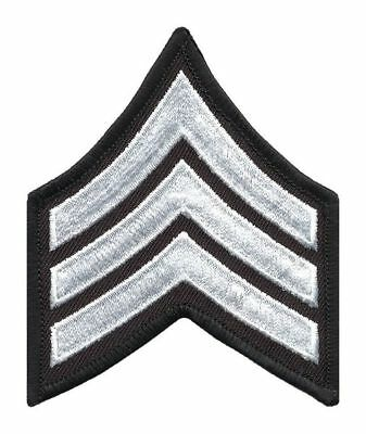 HEROS PRIDE 5400S Embroidered Patch, SGT, White on Black, PR