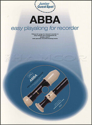 ABBA Easy Playalong for Recorder Sheet Music Book with CD Mamma Mia Waterloo