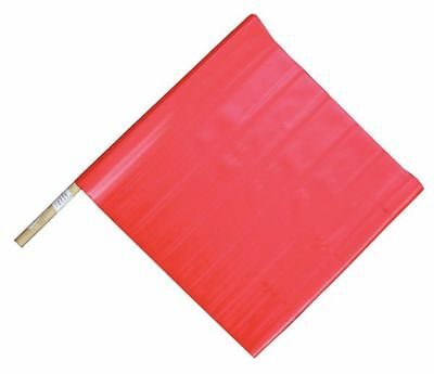 03-229-3424 Handheld Warning Flag, Red, 18 x 18 In