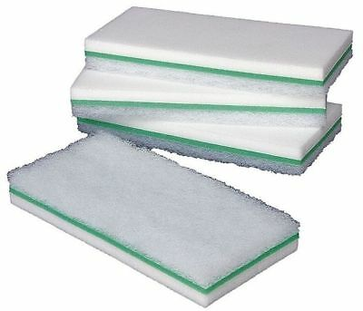 "Melamine Utility Scrub Pad,White,9""L,PK6 TOUGH GUY 6DNA9"