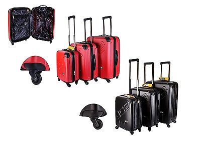 JCB Hard Shell 4 Wheel Spinner Suitcase Luggage Cabin Travel Trolley Case Bags