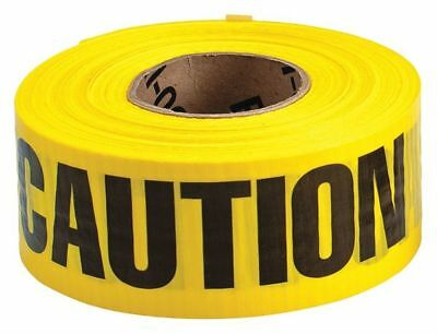 BRADY 91100 Barricade Tape,Yellow/Black,500ft x 3 In