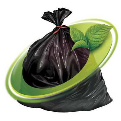 Mint-X Trash Bag, 44 gal., LLDPE, Black, PK100, MX4046XHB