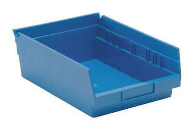 "Blue Shelf Bin, 11-5/8""L x 8-3/8""W x 4""H QUANTUM STORAGE SYSTEMS QSB107BL"