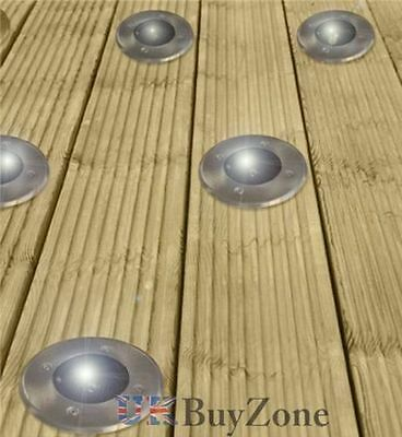 Solar Powered LED Garden Deck Lights Decking Driveway Outdoor Wireless Lighting