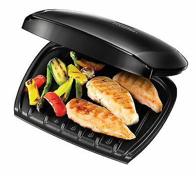 George Foreman 18870 Five 5 Portion Family Health Grill Non Stick Black (A)