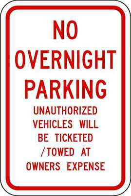 LYLE NP-056-12HA Parking Sign,18 x 12In,R/WHT,Text