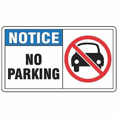 Notice Sign,No Parking,7x10 in,Adhesive Vinyl ACCUFORM MVHR827VS
