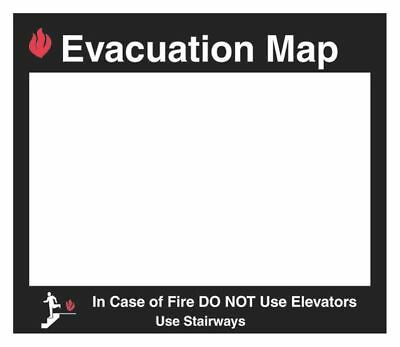 Evacuation Map Holder,Glow,11 x 11-1/2