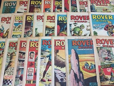 Job Lot - 51 Issues Of The Rover And Wizard Comics - Year 1967 - Very Good