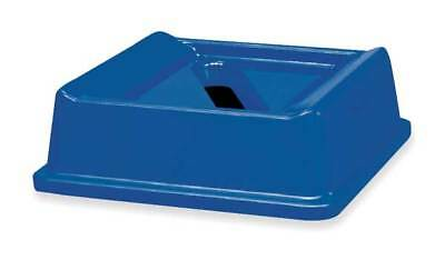 "20-1/8"" Paper Slot Recycling Top, Blue ,Rubbermaid, FG279400DBLUE"