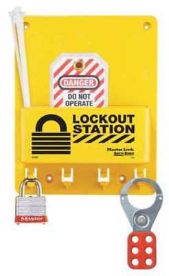 Lockout Station,Filled,1 Steel Lock MASTER LOCK S1705P3