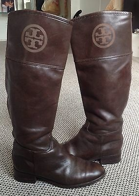 Authentic TORY BURCH High Leather Riding Boots - SZ 10M -WOW!
