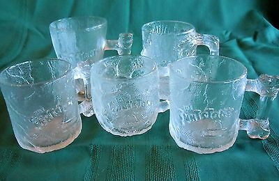 Vintage 5 1993 McDonald's Flinestones Glass Mugs
