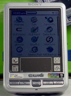 Sony PEG-SJ30/U Clie Palm 4.1 Personal Color LCD Handheld PDA 16MB Word/Excel