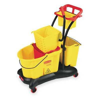 WaveBrake Mop Bucket and Wringer,8.75 gal,Yellow