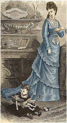 Victorian Pattern for 1876 Louisine Dress - Sized for you