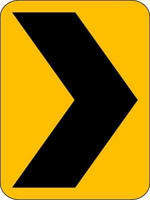 Traffic Sign,18 x 12In,BK/YEL,SYM,W1-8 LYLE W1-8-12HA
