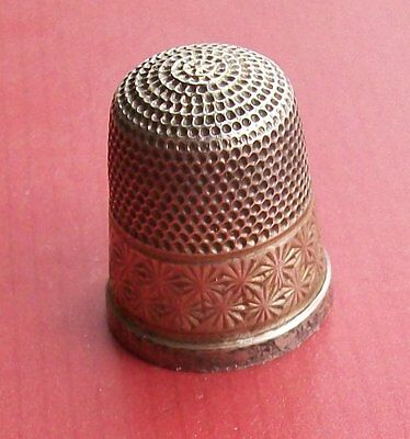 Vintage Sterling Silver Thimble HG&S Size 17