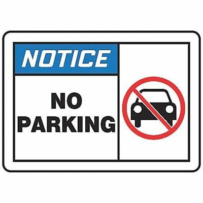 Notice Sign,10 x 14In,BL and BK/WHT,AL ACCUFORM MVHR824VA