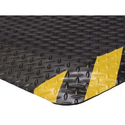 Antifatigue Mat,Blk,YllwChevrnBrdr,2x3ft CONDOR 6ENJ8