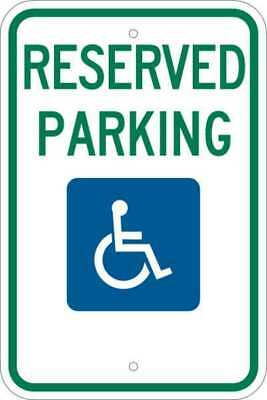 Parking Sign,18 x 12In,GRN and BL/WHT BRADY 103748