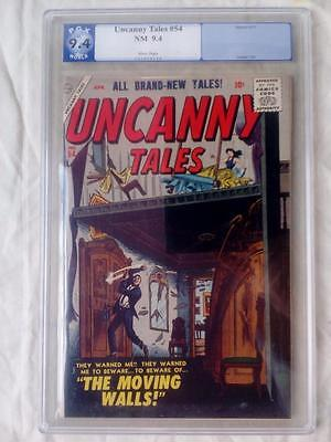 Uncanny Tales #54 Pgx 9.4 (Not Cgc) White Pages !!!