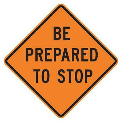 LYLE W3-4-BO-30HA Stop Sign,30 x 30In,BK/ORN,Text