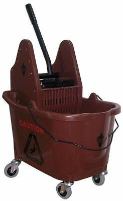 Mop Bucket and Wringer,8-3/4 gal.,Brown TOUGH GUY 5CJK4