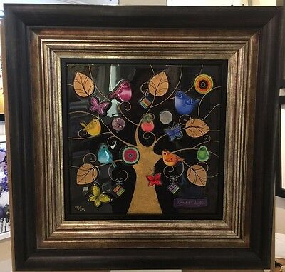 Midnight Gold by Kerry Darlington, Unique Edition, Abstract Tree