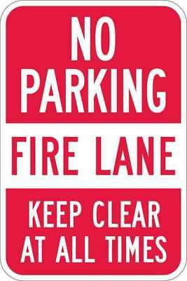 Sign,No Parking,Fire Lane,18 x12 In LYLE T1-1067-EG_12x18