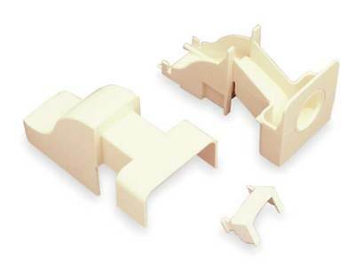 Drop Ceiling Connector,Ivory,PVC,Ends LEGRAND PN10F86V