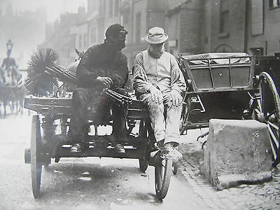 Whitby Sweep and Plasterer 1890 Frank Meadow Sutcliffe Photo prints 60s Framed.