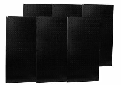WALL CONTROL 35-P-3296BK Pegboard, Round, 32 In. H, 96 In. W, Black