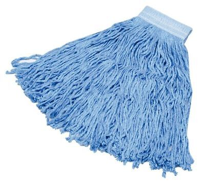 RUBBERMAID FGF13600BL00 Hot Mop 4-Ply Cotton/Rayon/Synthetic Blend Yarn Wet