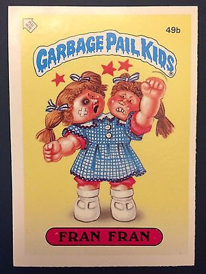 Fran Fran 49b ~ Garbage Pail Kids UK Series 2 (1986) MINT Condition ~ Rare