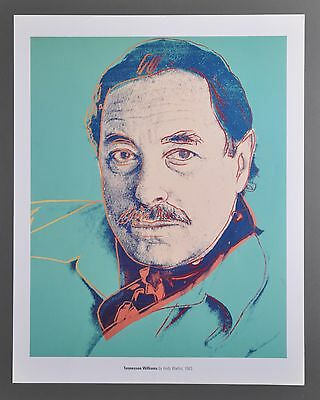 Andy Warhol Tennessee Williams 1983 Offset Lithograph 34x43cm Farblithographie