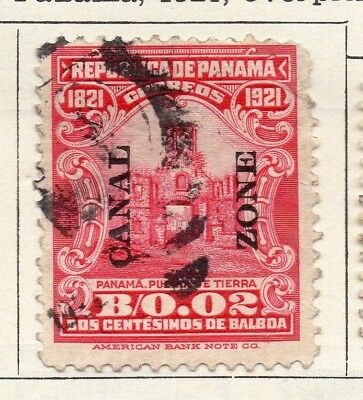 Panama 1921 Early Issue Fine Used 2c. Optd 150323