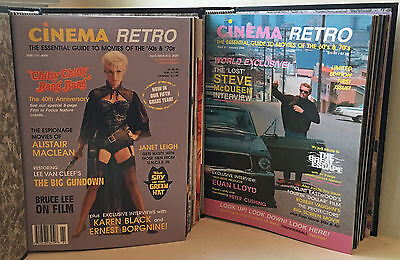 CINEMA RETRO COLLECTION #1-24, NEW with BINDERS. AMAZING COLLECTION! FREE SHIP!