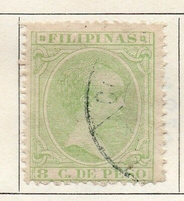 Philippine Islands 1889 Early Issue Fine Used 8c. 150402